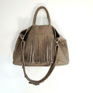 Kelsi Dagger Fringe Leather Crossbody Handbag